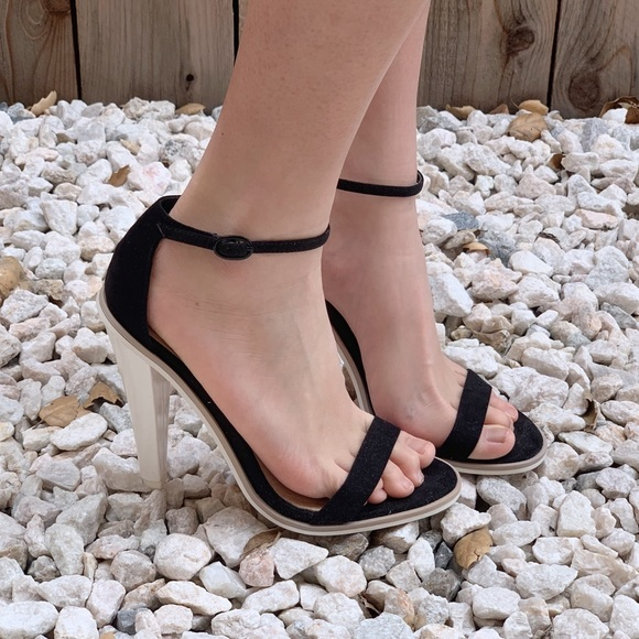 22490bd7824 ASOS black and white strap heels (6-6.5 US)